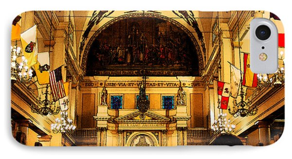 Inside St Louis Cathedral Jackson Square French Quarter New Orleans Fresco Digital Art Phone Case by Shawn O'Brien