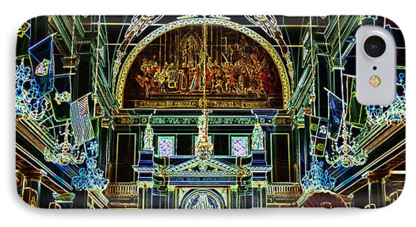 Inside St Louis Cathedral Jackson Square French Quarter New Orleans Glowing Edges Digital Art Phone Case by Shawn O'Brien