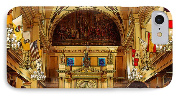 Inside St Louis Cathedral Jackson Square French Quarter New Orleans Poster Edges Digital Art Phone Case by Shawn O'Brien