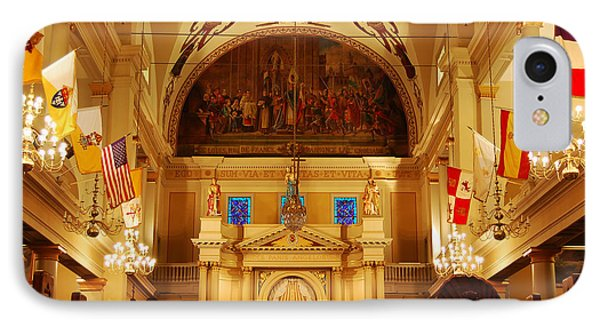 Inside St Louis Cathedral Jackson Square French Quarter New Orleans Phone Case by Shawn O'Brien
