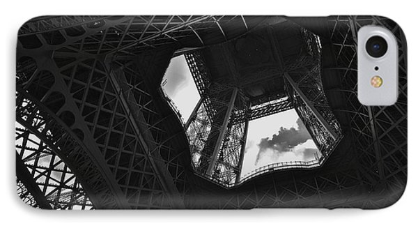 IPhone Case featuring the photograph Inside The Eiffel Tower by Eric Tressler