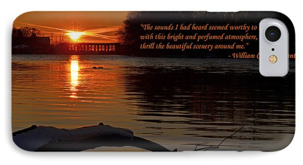 Inspirational Sunset With Quote Phone Case by Sue Stefanowicz
