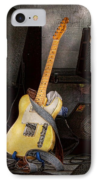 Instrument - Guitar - Playing In A Band Phone Case by Mike Savad