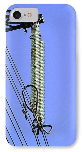 Insulators On An Electricity Pylon Phone Case by Paul Rapson