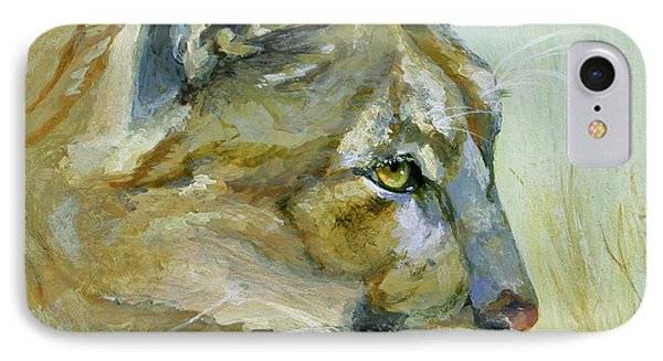 Intense Cougar IPhone Case by Bonnie Rinier