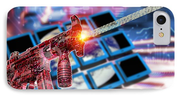 Internet Terrorism Phone Case by Victor Habbick Visions