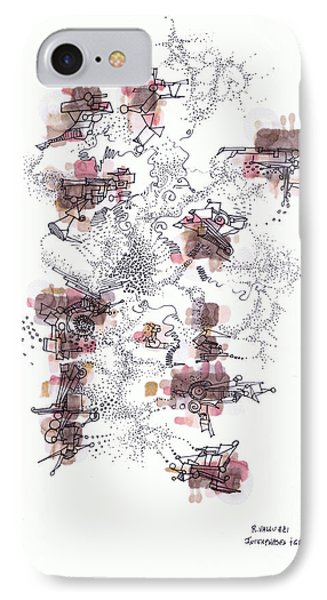 Interphases And Grains Phone Case by Regina Valluzzi