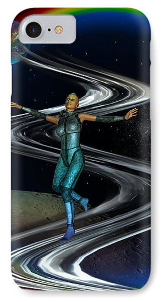 IPhone Case featuring the digital art Interplanetary Glideway by Shadowlea Is