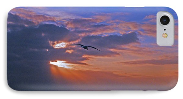 IPhone Case featuring the photograph Into The Misty Morning Sun by Brian Wright
