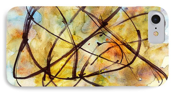 IPhone Case featuring the painting Inverno Abstract Watercolor by Chriss Pagani