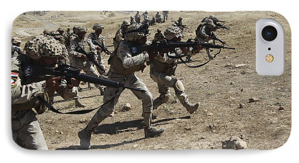 Iraqi Army Soldiers Move To Positions Phone Case by Stocktrek Images
