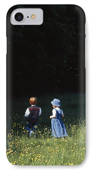 Ireland Children In A Field Phone Case by The Irish Image Collection
