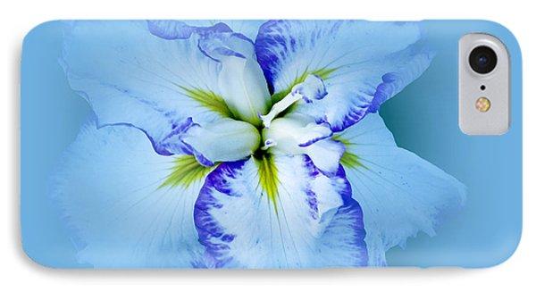 Iris In Blue IPhone Case