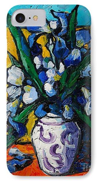 Irises IPhone Case by Mona Edulesco