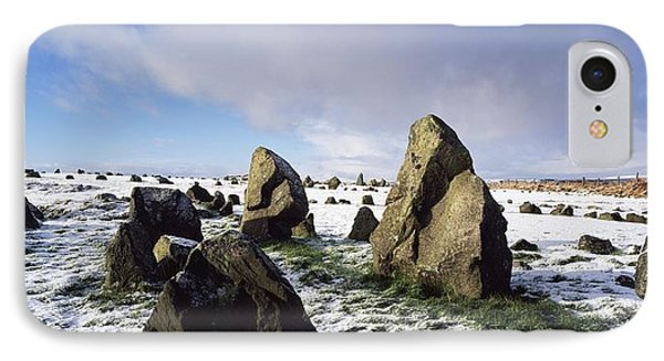 Irish Snow Scenes Co Tyrone, Beaghmore Phone Case by The Irish Image Collection
