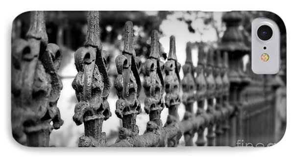 Iron Fence 2 Phone Case by Perry Webster