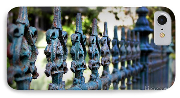 Iron Fence Phone Case by Perry Webster