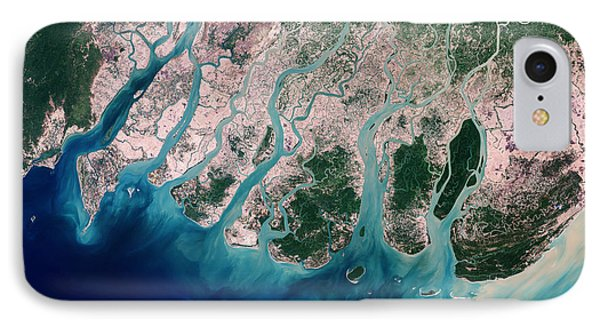 Irrawaddy River Delta Phone Case by Nasa