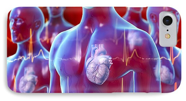 Irregular Heartbeat, Conceptual Artwork Phone Case by David Mack