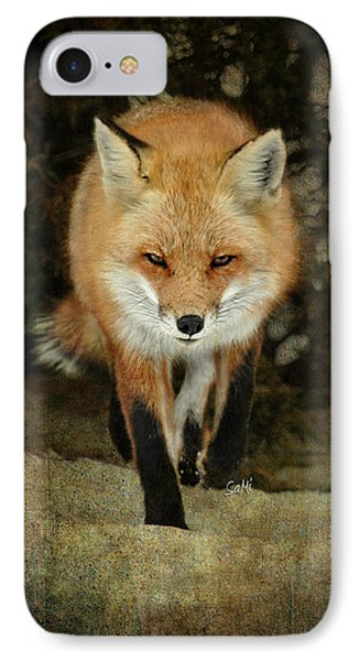 Island Beach Fox IPhone Case by Sami Martin