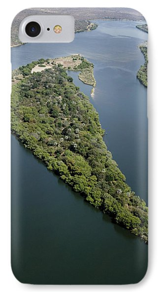 Island On The Zambezi River Phone Case by Tony Camacho