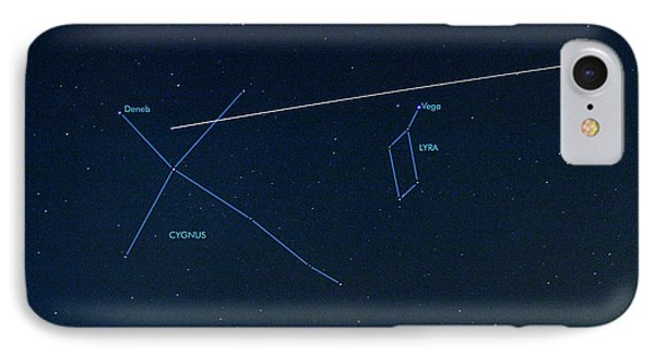 Iss Light Trail And Constellations Phone Case by Detlev Van Ravenswaay