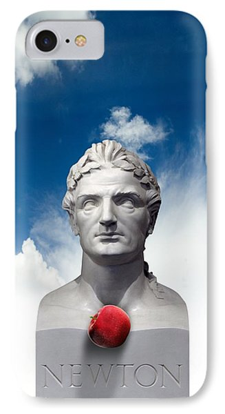 Issac Newton And The Apple, Artwork Phone Case by Victor Habbick Visions