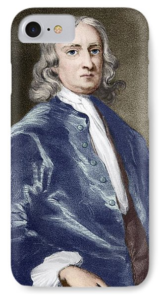 Issac Newton, English Physicist Phone Case by Sheila Terry