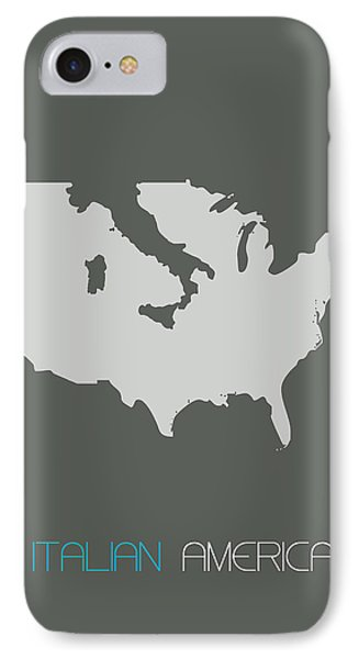 Italian America Poster IPhone Case by Naxart Studio