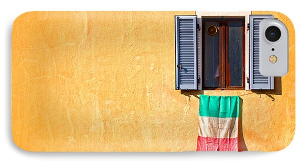Italian Flag Window And Yellow Wall IPhone 7 Case
