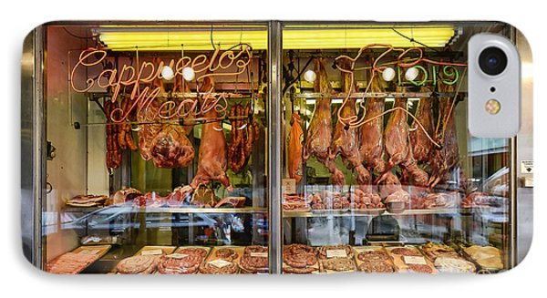 Italian Market Butcher Shop Phone Case by John Greim