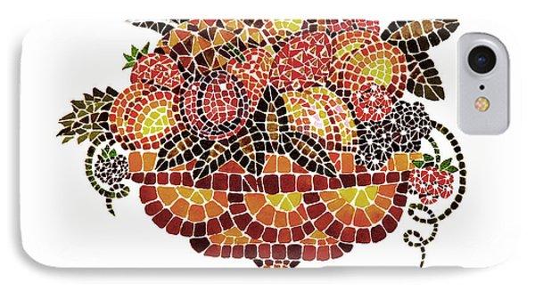 Italian Mosaic Vase With Fruits Phone Case by Irina Sztukowski