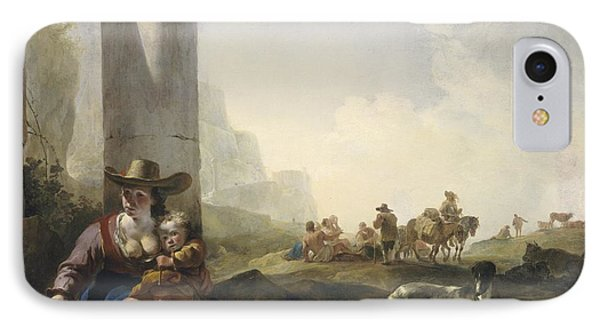 Italian Peasants Among Ruins IPhone Case by Jan Weenix