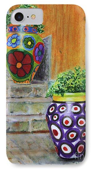 IPhone Case featuring the painting Italian Vases by Karen Fleschler