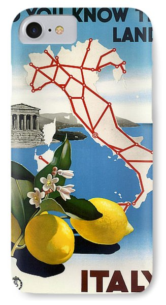 Italy Phone Case by Georgia Fowler