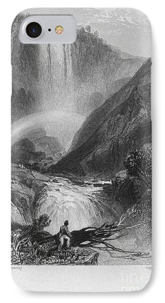 Italy: Waterfall, 1833 Phone Case by Granger