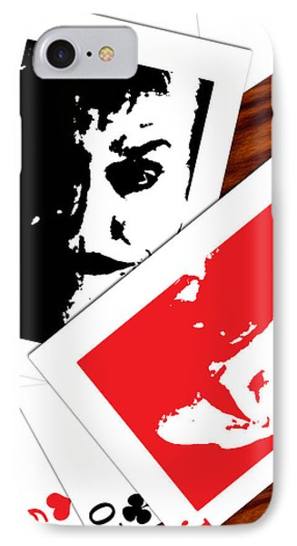 Jack Nicholson - The Joker's Crooked Card Game IPhone Case by Saad Hasnain