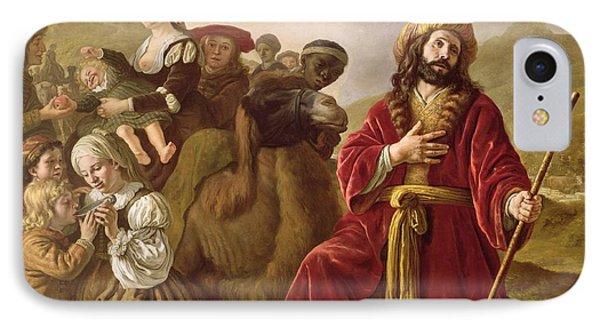 Jacob Seeking Forgiveness Of Esau Phone Case by Jan Victoors