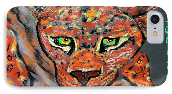 Jaguar Bebe Portrait IPhone Case by Kathryn Barry