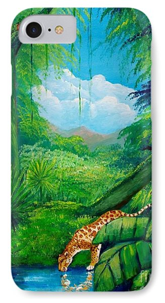 Jaguar Drinking Water IPhone Case