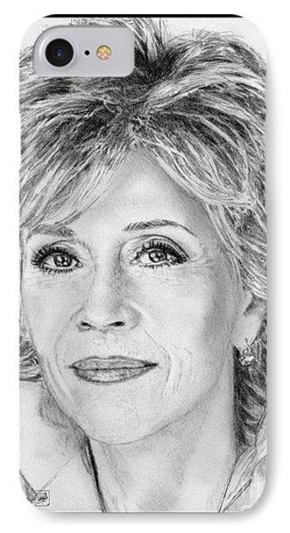 Jane Fonda In 2005 Phone Case by J McCombie
