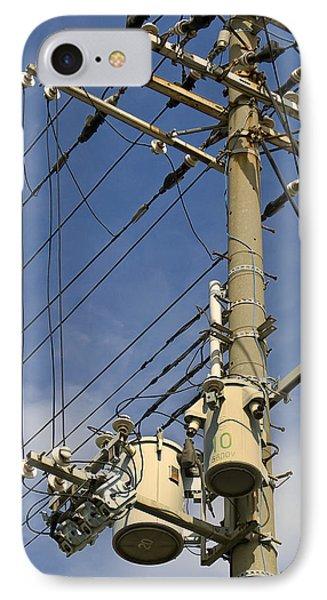 Japan Power Utility Pole Phone Case by Daniel Hagerman