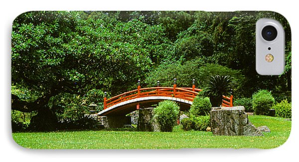 IPhone Case featuring the photograph Japanese Garden Bridge 21m by Gerry Gantt