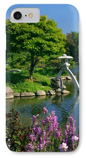 IPhone Case featuring the photograph Japanese Garden by Cindy Haggerty
