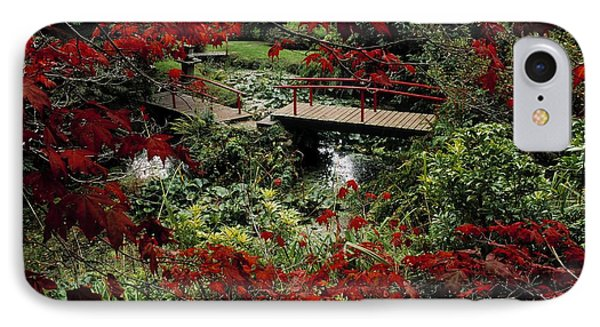 Japanese Garden, Through Acer In Phone Case by The Irish Image Collection