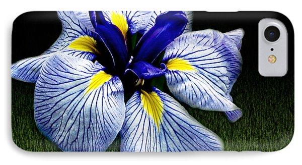 Japanese Iris Ensata - Botanical Wall Art IPhone Case