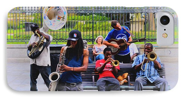 Jazz Band At Jackson Square Phone Case by Bill Cannon