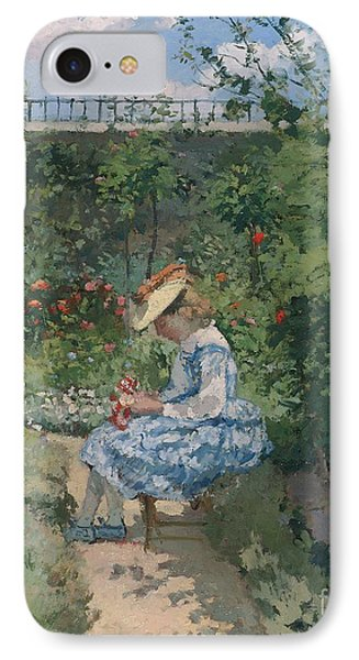 Jeanne In The Garden Phone Case by Camille Pissarro