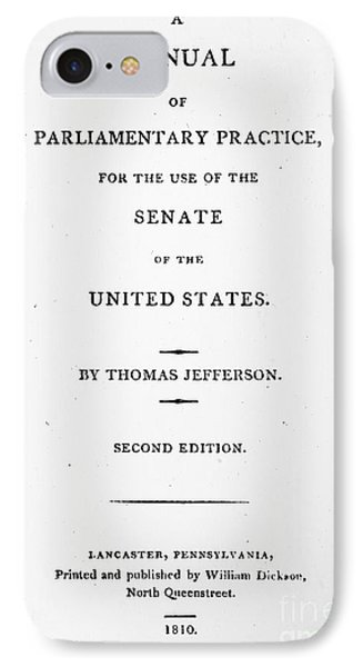 Jefferson: Title Page, 1810 Phone Case by Granger
