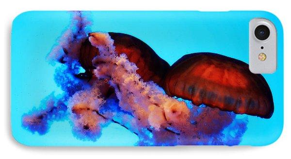 Jellyfish Drama - Digital Art IPhone Case by Carol Groenen